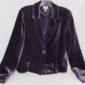 CHICO'S Purple Velvet Jacket